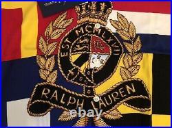 Polo Ralph Lauren Crest Limited Edition SUPER RARE Sz S Stadium Pwing Snow Beach