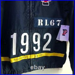 Polo Ralph Lauren Indigo 1992 Vintage Stadium Denim Jacket Small S Hi Tech Cp93