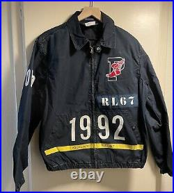 Polo Ralph Lauren Indigo Stadium Denim Jacket Men sz M Medium RL-67 1992 P-Wing