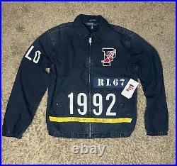 Polo Ralph Lauren Indigo Stadium Denim Jacket Mens Size Large RRL 1992 P-Wing