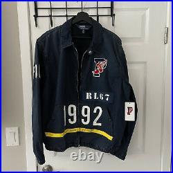 Polo Ralph Lauren Indigo Stadium Denim Jacket Mens Size XL RL-67 1992 P-Wing