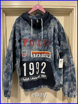 Polo Ralph Lauren Indigo Stadium Popover Jacket Size 2XL LIMITED EDITION