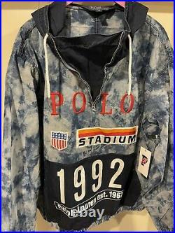Polo Ralph Lauren Indigo Stadium Popover Jacket Size XL LIMITED EDITION