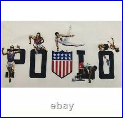 Polo Ralph Lauren K-swiss Shield Chariots Gymnastics T-Shirt XXL Stadium P-wing