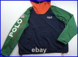 Polo Ralph Lauren K-swiss Shield Color Block Windbreaker Jacket XL Stadium