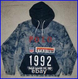 Polo Ralph Lauren Limited Edition 1992 Stadium Indigo Tie Dye Popover Jacket M