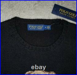 Polo Ralph Lauren Limited Edition Flag Golf Bear Stadium Knit Sweater rare L
