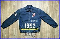 Polo Ralph Lauren Limited Edition Indigo Stadium Logo Jacket RRL 1992 P-Wing
