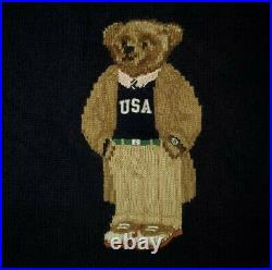 Polo Ralph Lauren Limited Edition USA Bear Crewneck Sweater pwing stadium XL