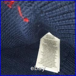 Polo Ralph Lauren Limited Edition USA Flag Golf Bear Stadium Knit Sweater rrl M
