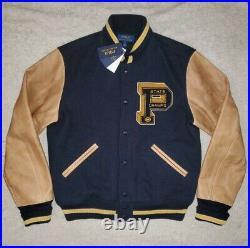 Polo Ralph Lauren Limited State Champ Leather Varsity Letterman Jacket stadium L