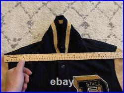 Polo Ralph Lauren Limited State Champ Leather Varsity Letterman Jacket stadium M
