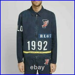 Polo Ralph Lauren M Limited Edition Indigo Stadium Logo Jacket RRL 1992 P-Wing