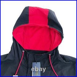 Polo Ralph Lauren P-Wing 1967 Stadium RRL Jacket Black Red Hi Tech Mens Size XL