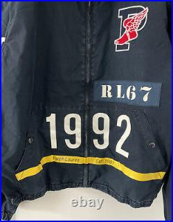 Polo Ralph Lauren P-Wing Indigo Stadium Denim Jacket Mens Size XL RRL 1992
