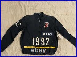 Polo Ralph Lauren P Wing Indigo Stadium Jacket Mens Size Large RRL 1992 NEW