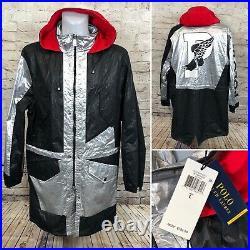 Polo Ralph Lauren P Wing Silver Stadium Reflective Rain Jacket Mens sz Large