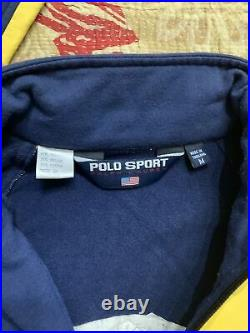 Polo Ralph Lauren Polo Sport RLX Cycle Jacket Stadium 92 Hi Tech VTG Fleece Coat
