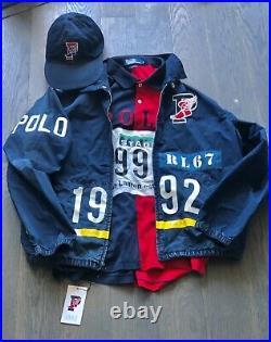 Polo Ralph Lauren Retro 1992 Stadium Plates Pwing P-wing Jacket Large