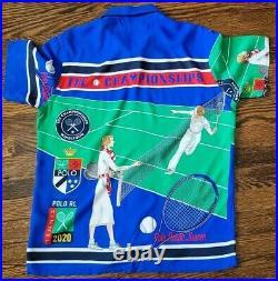 Polo Ralph Lauren Stadium Snowbeach 1992 Rare Polo Tennis Shirt Size L NEW