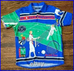Polo Ralph Lauren Stadium Snowbeach 1992 Rare Polo Tennis Shirt Size M NEW