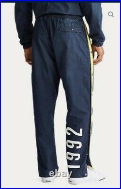 Polo Ralph Lauren Track Pants Stadium P Wing 1992 Denim RARE Limited Edition L