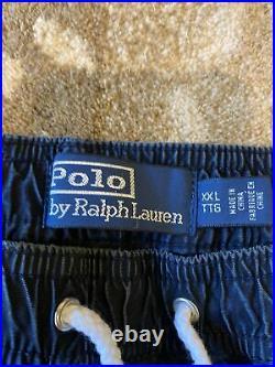 Polo Ralph Lauren Track Pants Stadium P Wing 1992 Denim RARE Limited Edition XXL