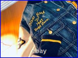 Polo Ralph Lauren Varsity Letterman Tiger Jacket Stadium Limited Rare Size M