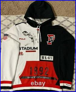 Polo Ralph Lauren Winter Stadium Hoodie Limited Edition Black Red White Retro