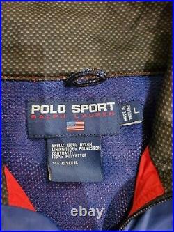 Polo Sport Ralph Lauren RLX Cycle Jacket Stadium 92 Hi Tech VTG Original OG LRG