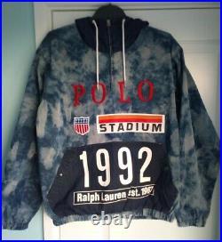 Ralph Lauren 1992 Indigo Stadium Popover Jacket Size S Limited Edition Polo