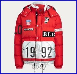 Ralph Lauren Limited Edition Winter Stadium Down Coat Red Medium RRP £799
