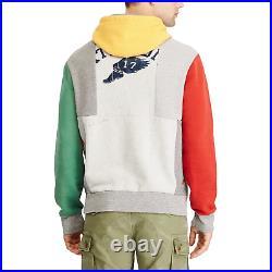 Ralph Lauren Polo Mens Limited Edition Stadium Patchwork Pullover Fleece Hoodie