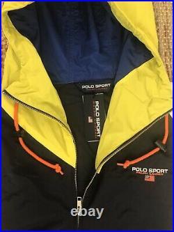 Ralph Lauren Polo Sport Spell Out Hoodie Nylon Windbreaker Jacket XXL Stadium