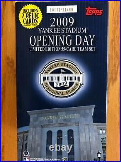 TOPPS 2009 Yankee Stadium Opening Day limited edition 55 card team set