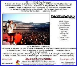 The Rolling Stones Live At Anaheim Stadium Stadium 1978 July 23 Ltd 3 C D