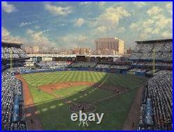Thomas Kinkade Yankee Stadium 30 x 40 Limited Edition Canvas A/P Signed