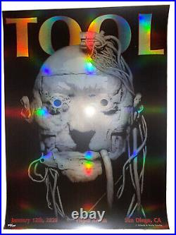 Tool Poster San Diego Viejas Arena 2020 concert tour limited edition holographic