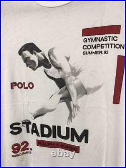 Vintage 1992 Polo by Ralph Lauren Stadium Long Jump T-Shirt Limited Edition L