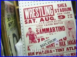 WWF Shea Stadium 8-9-80 ORIGINAL POSTER PLEASE READ